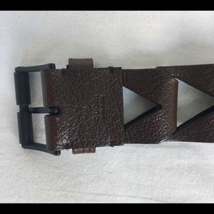 Gucci vintage brown rare leather belt flawless